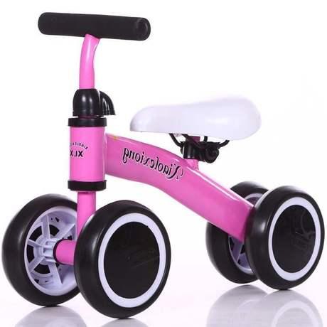 Trẻ mới 1-3 tuổi xe cân bằng không có bàn đạp Xe em bé bốn bánh xe tay ga xoắn xe tập đi một thế hệ Xe đạp