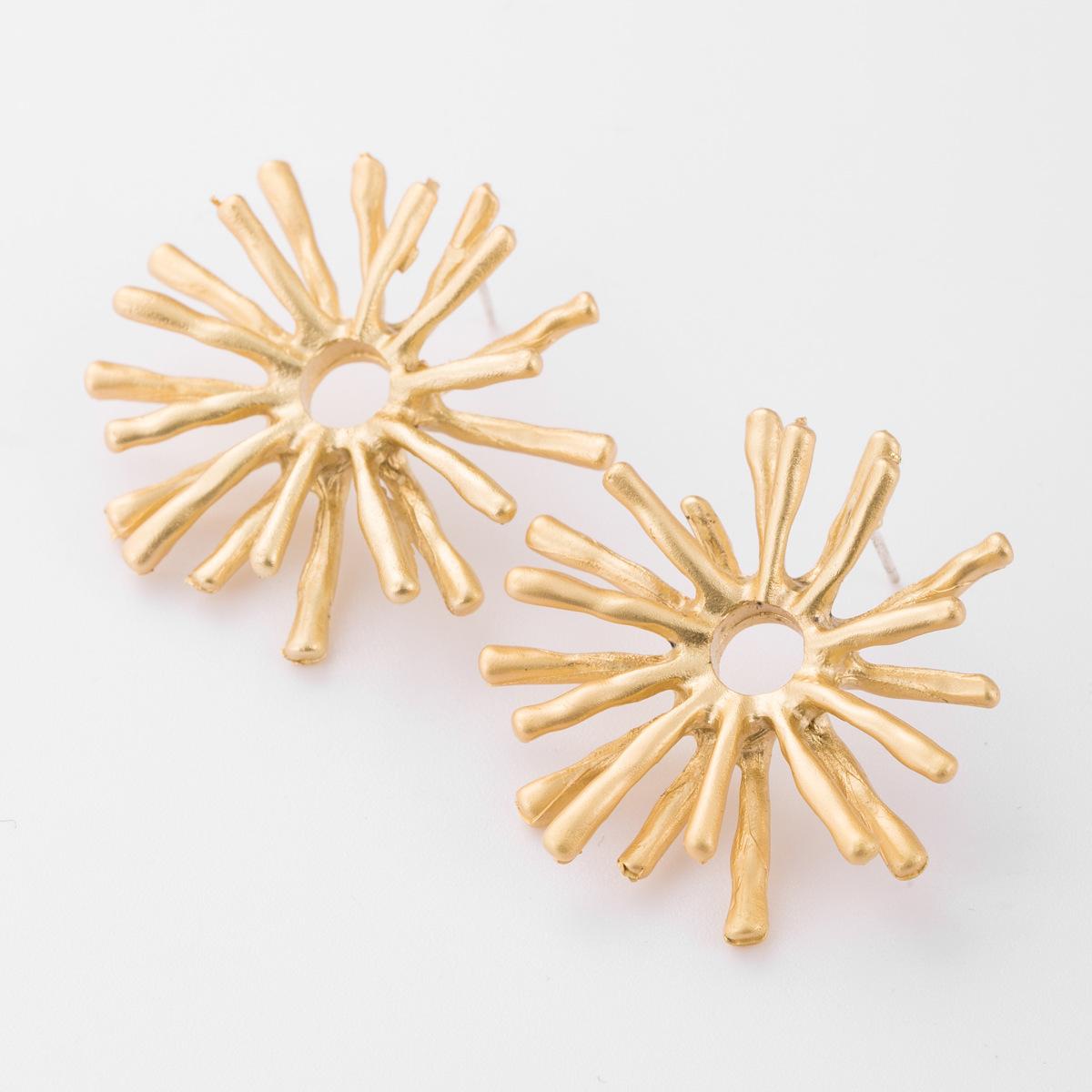 Alloy geometric sea urchin earrings wholesales fashion NHJE179602