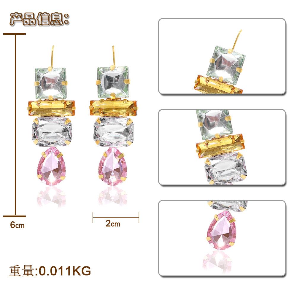 Fashion handmade crystal meteorite earrings NHJQ150507