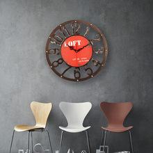 復古工業風齒輪鐘表壁掛裝飾 室內樣板房 樣板間家居飾品掛件批發