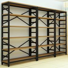 精品钢木书架客厅落地置物架办公文件架饰品化妆品陈列货架展示架
