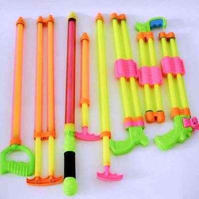 货源儿童玩具抽拉式加长款水枪水炮 漂流戏水沙滩地摊玩具 透明水抽批发