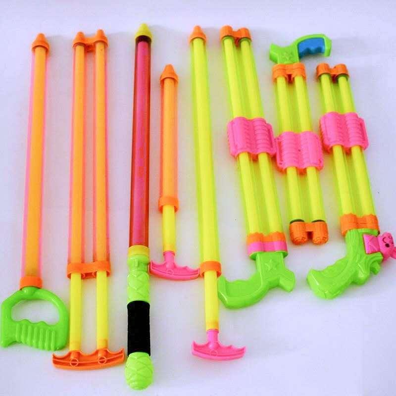儿童玩具抽拉式加长款水枪水炮 漂流戏水沙滩地摊玩具 透明水抽