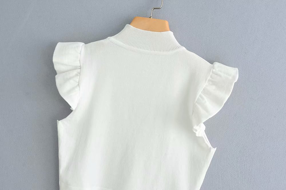 Summer two-color ruffled sweater vest NHAM149568
