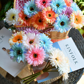 Romantic Nordic house decoration flower real flower fulanghua wedding handhold Flower Gerbera real flower immortal flower