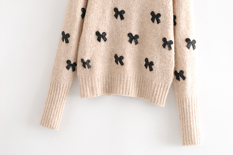 Wholesale new style bow sweater NHAM188132