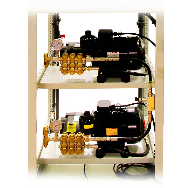 智能集中式高压清洗,喷雾系统,高压水流清洗机,圣美环境
