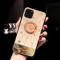 Подходит для случая мобильного телефона iphone11, новой защитной оболочки Apple 11 с кронштейном, гальванических страз