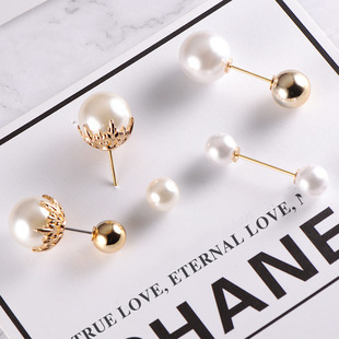 Korean brooch female pearl anti-clothing word pin sweater coat light cardigan pin collar brooch accessories