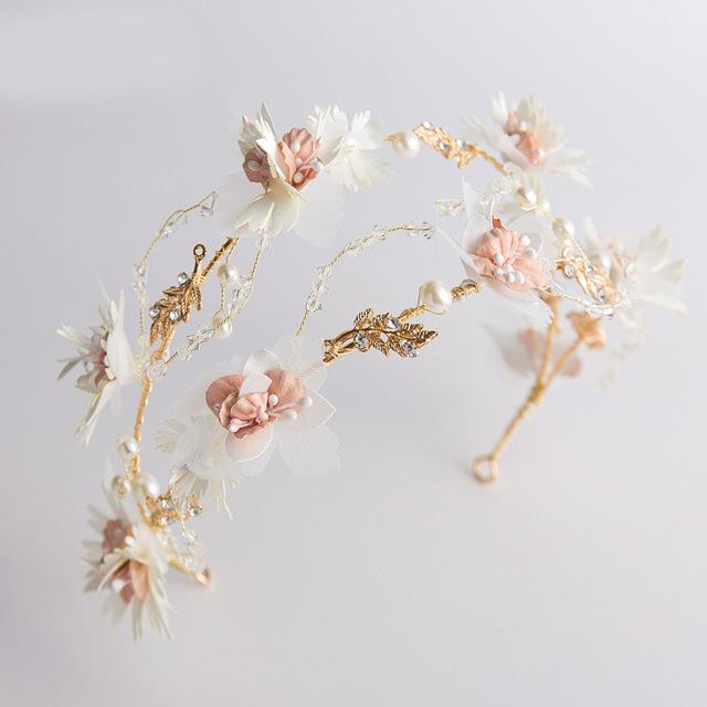 Cô dâu vương miện Senmei vẻ đẹp cô dâu siêu cổ tích bánh mì nướng ngọt ngào Hàn Quốc kết hợp phù hợp với headband Băng tóc