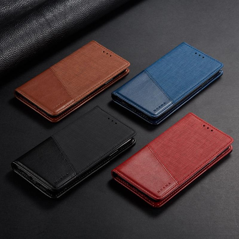 适用iPhone6/6S/7/8Plus手机壳亚麻纹翻盖皮套苹果5S商务创意新款