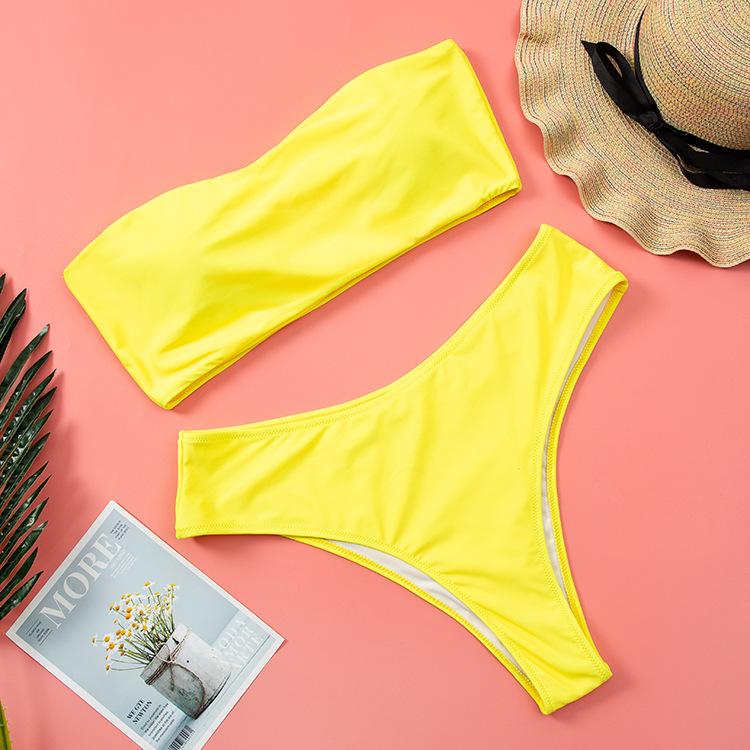 printing tube top large size swimsuit  NSHL2221