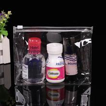 定制PVC通用水晶拉鏈袋PVC化妝品透明包裝袋自封自立袋批發