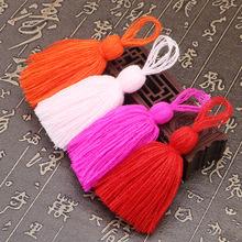 现货腈纶11CM挂绳穗子蓬松胖开司米毛线流苏 包包靠枕装饰粗吊穗
