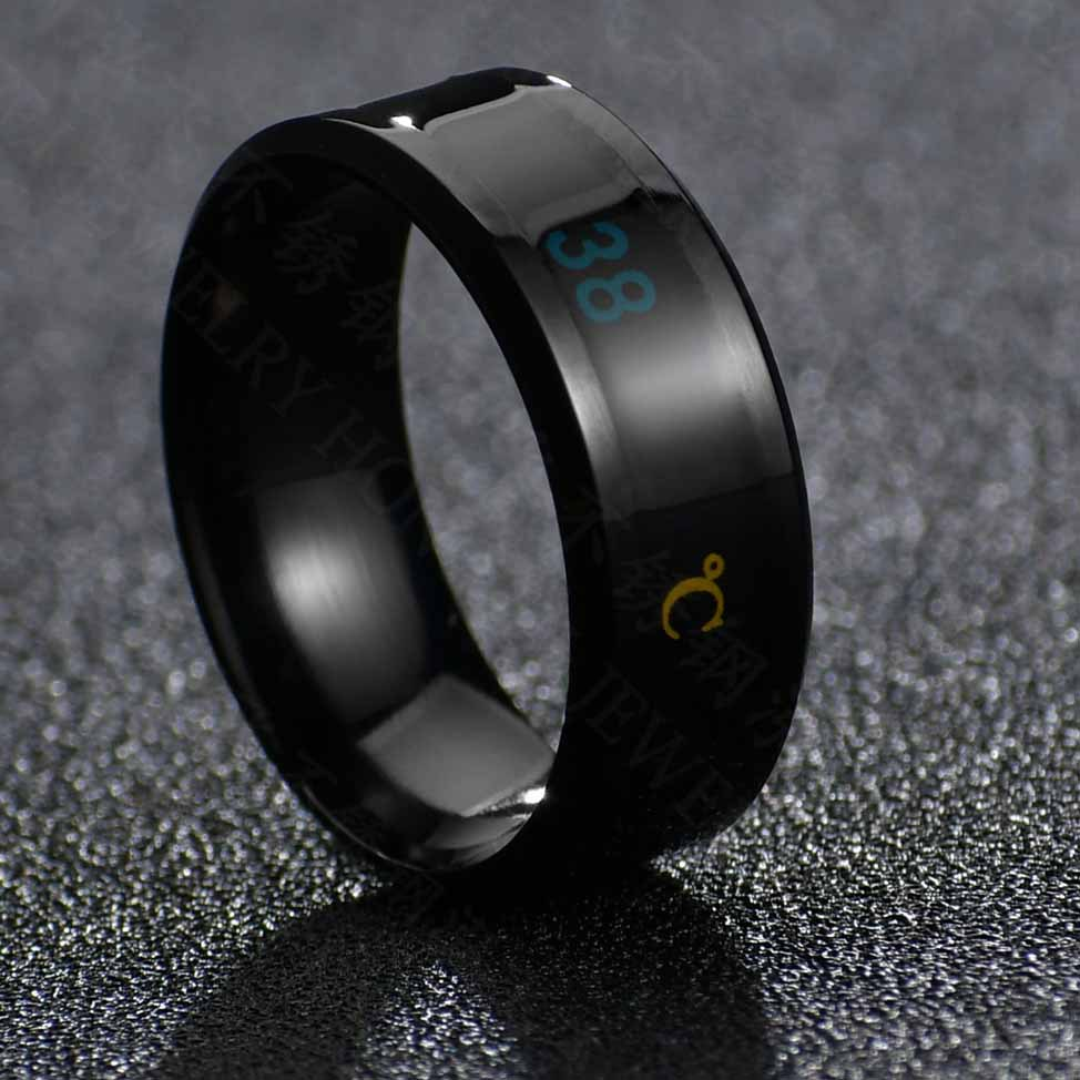 Fashion temperature stainless steel men's ring NHHF145916
