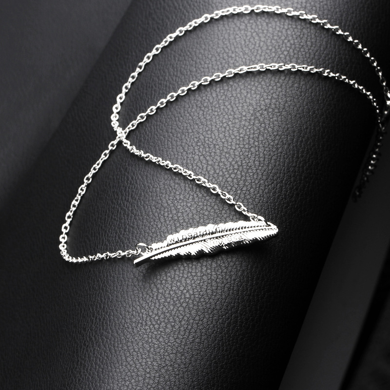 New fashion Harry Potter mantra feather necklace yiwu nihaojewelry wholesale NHMO208214