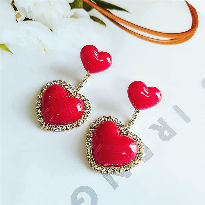 Fashion diamond earrings women's earrings wholesale NHVA186018