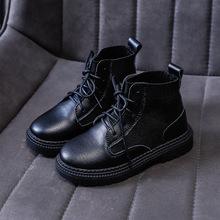 女童马丁靴真皮2019秋冬季新款女大童中筒靴后跟拉链儿童公主靴子