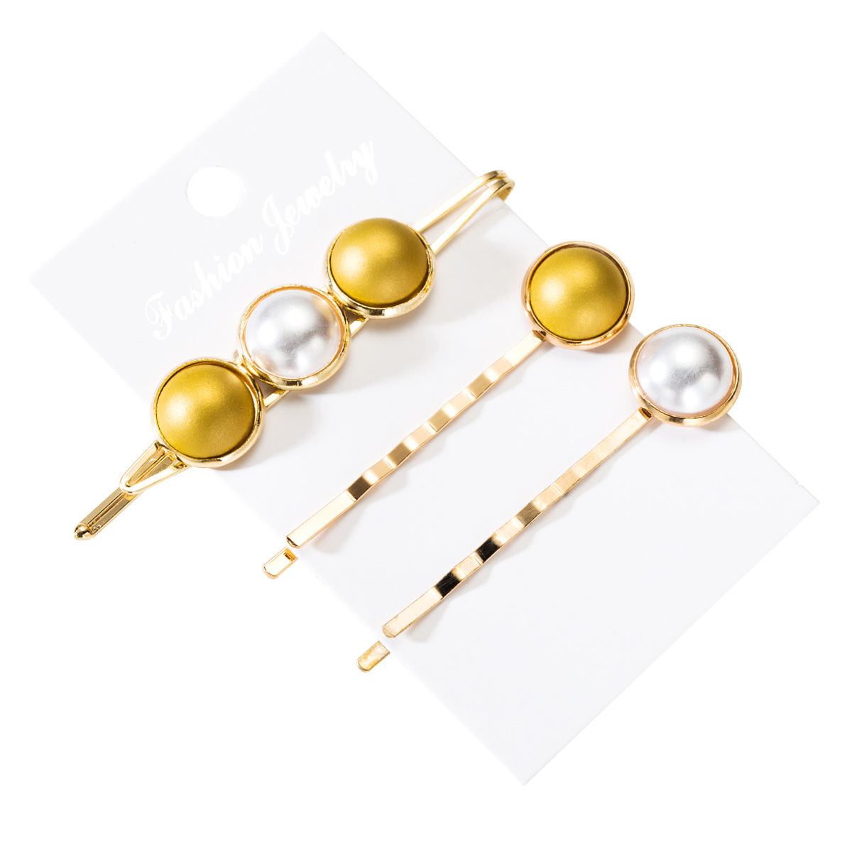 Womens geometric  round drop metal Hair Accessories NHLN152194