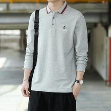 2019春秋季男式新款polo衫男装上衣服个性潮流T恤商务POLO衫青年