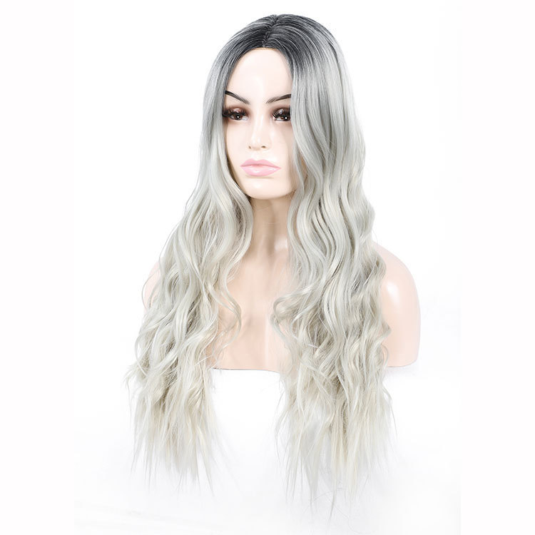 Wavy Hair Wigs Wavy Hair Wigs Specially designed for the wig workers to process the hair changing big wave long curly hair headgear