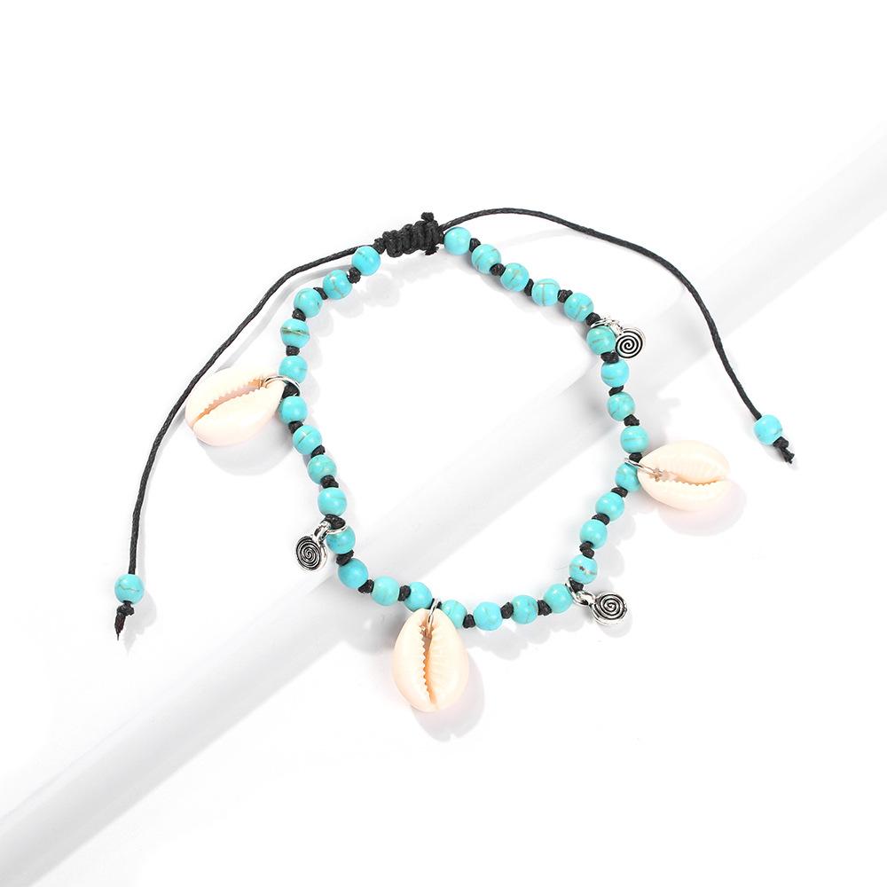 Womens Geometric Rope  Beads Shell Alloy  bracelet NHMD123369