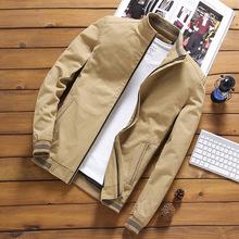 跨境批發男士外套青年韓版修身純棉夾克衫立領棒球服休閑夾克男潮