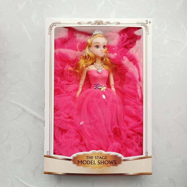 厂家直销彩盒芭芘娃娃单个盒装婚纱套装儿童礼品学校赠品玩具批发