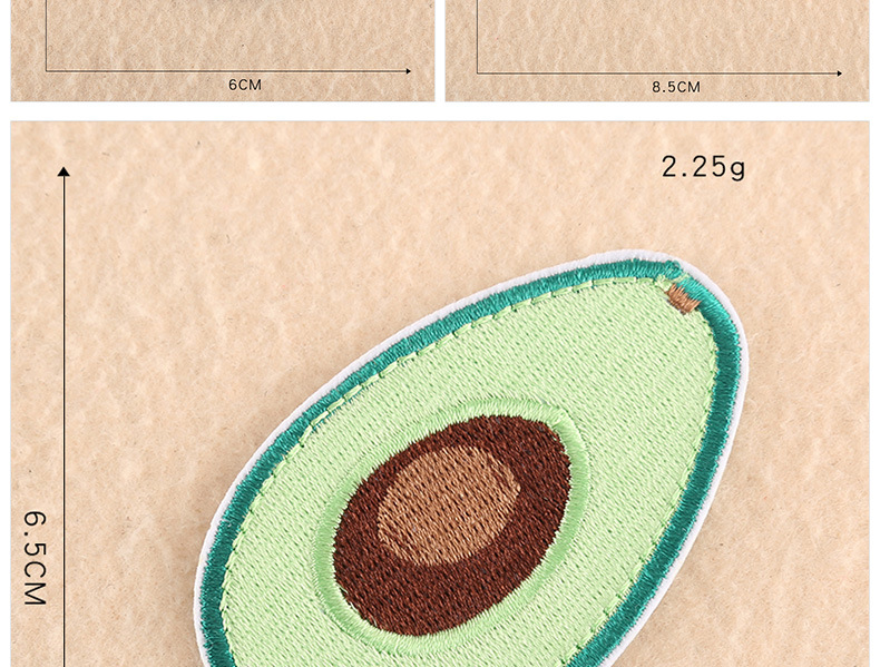 Embroidered avocado clothing shoes and hat accessories jewelry earrings accessories embroidery cloth stickers NHDX193846