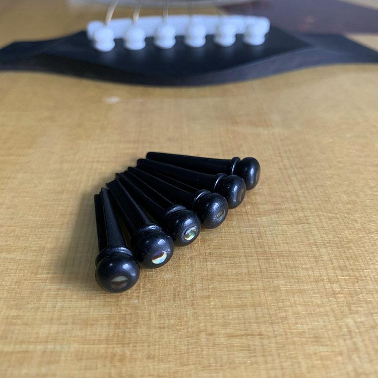 乐器配件吉他固弦钉乌木固弦锥乌木贝壳压弦柱吉他配件亚马逊货源
