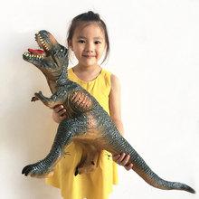 大恐龙玩具仿真动物霸王龙模型大号软胶塑胶超大橡胶软体硅胶发声