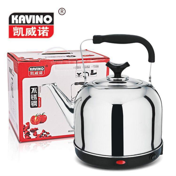 4567L大容量礼品彩盒电热高升不锈钢烧煮开水壶