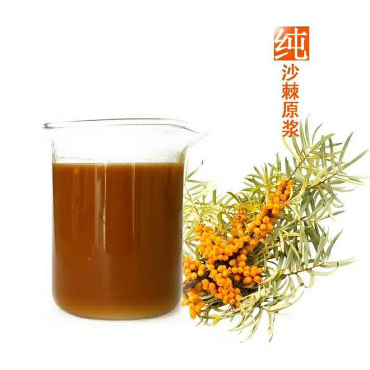 厂家大货供应沙棘原浆 沙棘原汁果蔬汁饮品 可做沙棘果汁饮料原料