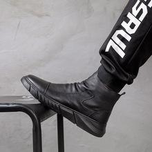 2020新款馬丁靴英倫風男士真皮鞋秋冬中幫皮靴子潮流保暖加絨棉鞋
