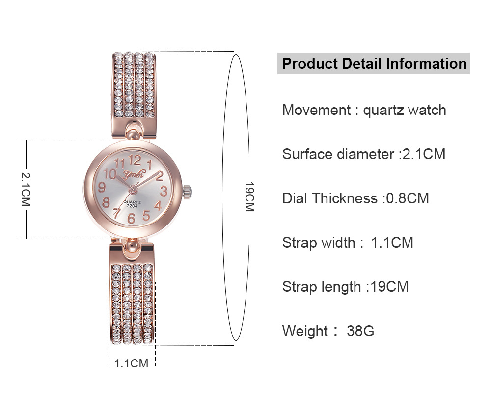 Fashion Digital Scale Alloy Quartz Bracelet NHHK153710