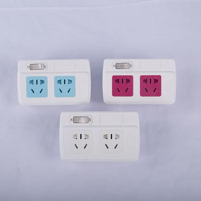 牛人一转二带开关转换器外观新型国标插座 .厂家定制各种颜色排插
