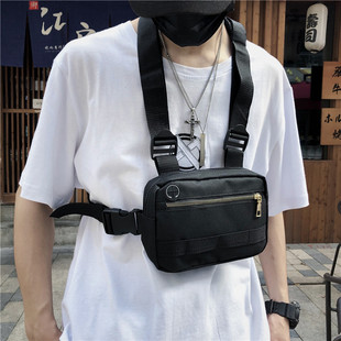 2019 new ins function tactical chest bag couple vest type functional backpack bag canvas student bags