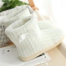 亚马逊出口冬季女家居靴 包跟家居靴 厚底防滑棉拖鞋女式一件代发