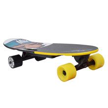 廠家直銷四輪電動滑板輕便兒童遙控滑板代步刷街時尚小魚板踏板車