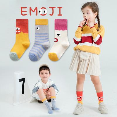袜子儿童棉袜春秋女童学生袜男孩卡通搞怪冬季宝宝中筒袜3-15岁