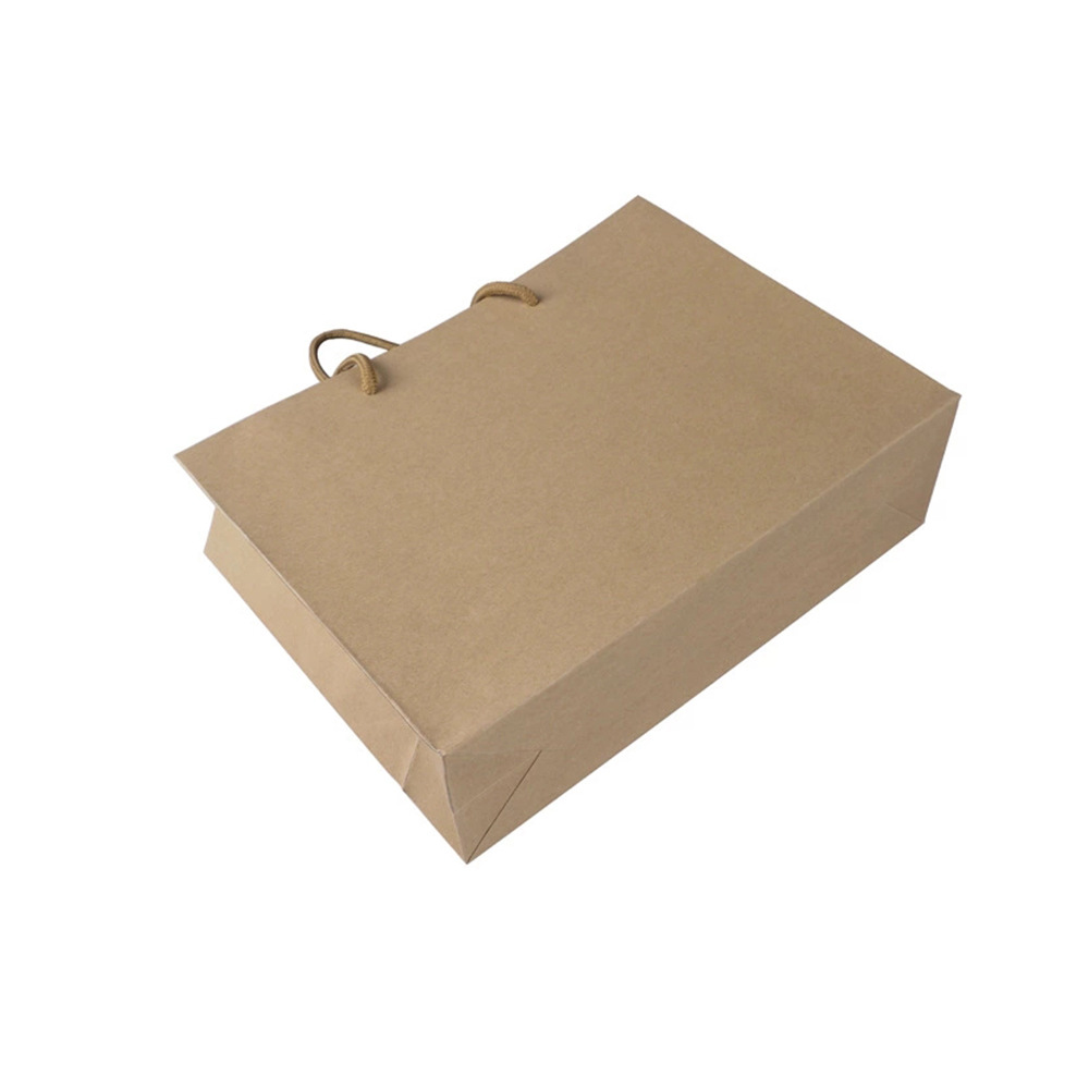 厦门UV印刷黄牛皮纸手提纸袋 180g黄牛纸礼品袋现货定制批量出售