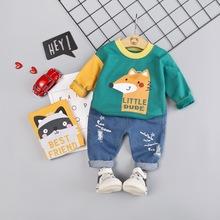 男童婴幼儿童秋季运动长袖帅宝宝洋气0-1-2-3-4岁女宝春秋套装潮