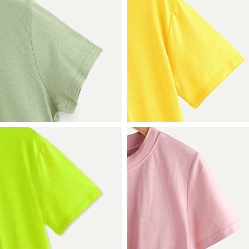 hot women's round neck comfortable short sleeve women's T-shirt NSSN892