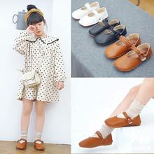 Giày đơn nữ 2019 xuân mới trẻ em hoang dã Giày công chúa phiên bản Hàn Quốc của đôi giày nhỏ đế mềm đế sữa đậu giày thủy triều Giày công chúa
