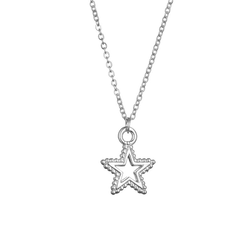 Classic Little Star Pendant Necklace Female Clavicle Chain Hollow Pentagram Necklace NHCU196673