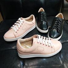 【主播福利】小白鞋女真皮系带女鞋休闲舒适平底单鞋