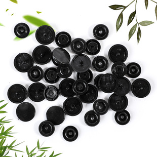 Factory direct supply T5 black thickened resin snap button 12.4mm clothing accessories button black mother-in-law concealed button