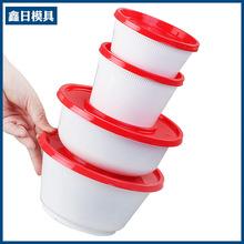 一次性餐盒 美式圆形外卖打包汤饭盒 可微波环保加厚带盖定制批发