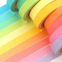 10卷价可爱创意彩色手撕小胶带 可写字的胶布diy印花相册装饰