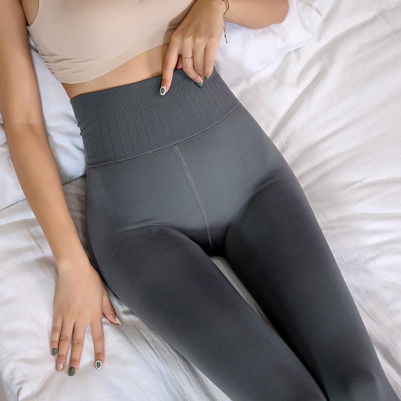 女士秋冬款加绒打底裤 收腹提臀哑光连裤袜 微压显瘦一体裤代销